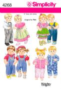 4268 Simplicity Pattern: Doll Clothes for 38cm (15 inch) Doll